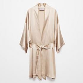 Silk bathrobe